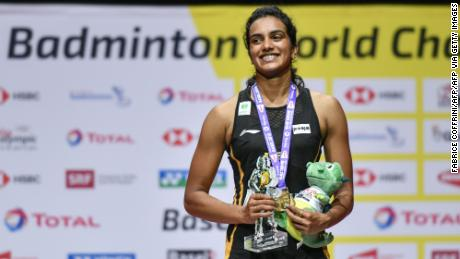 Gold standard: At the fifth attempt Sindhu is crowned India's first ever World Champion at the 2019 event in Switzerland