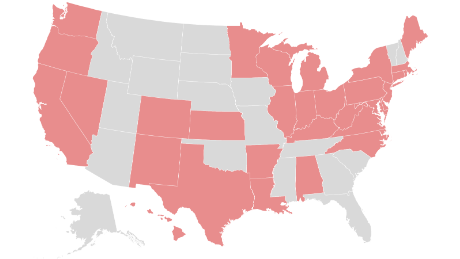 These are the states requiring people to wear masks when out in public