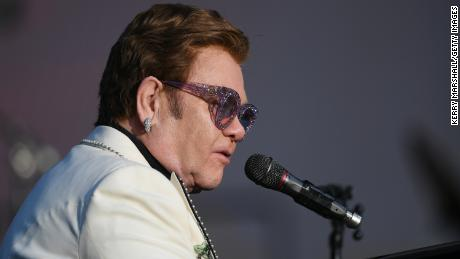 Elton John performed at Mission Estate Winery on February 6 in Napier, New Zealand.