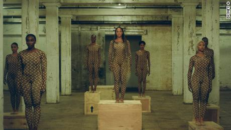 "Beyoncé is shown in ""Already"" from the visual album ""Black Is King."""