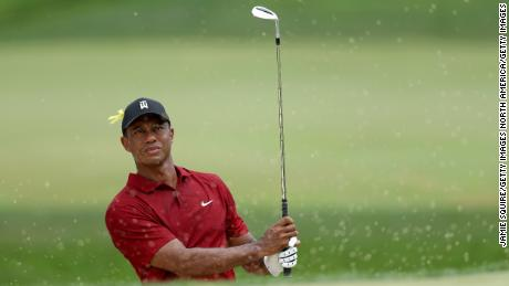 Tiger Woods plays at the Memorial Tournament last month.