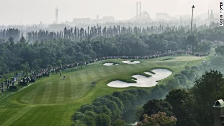 The 16th hole of the Sheshan International Golf Club during the HSBC Champions Tournament.