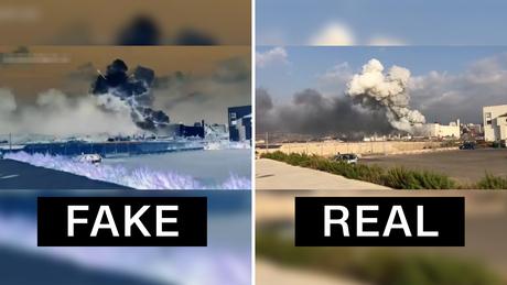 Los videos manipulados ya están fingiendo la causa de la explosión de Beirut