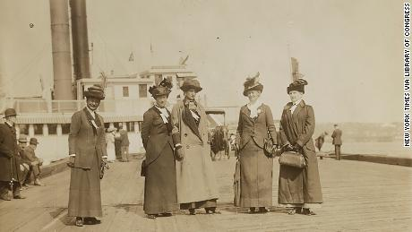 Anti-suffrage leaders Mrs. George Phillips, Mrs. K. B. Lapham, Miss Burnham, Mrs. Everett P. Wheeler, Mrs. John A. Church.