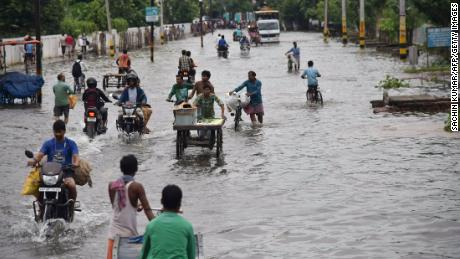 Last year, floods in Patna, Bihar state, made commuting a challenge for many residents.