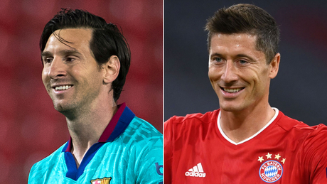 Lionel Messi and Robert Lewandowski will face eachother on Friday.