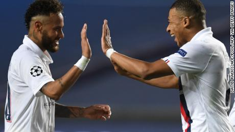 Neymar and Kylian Mbappe were involved in both goals.