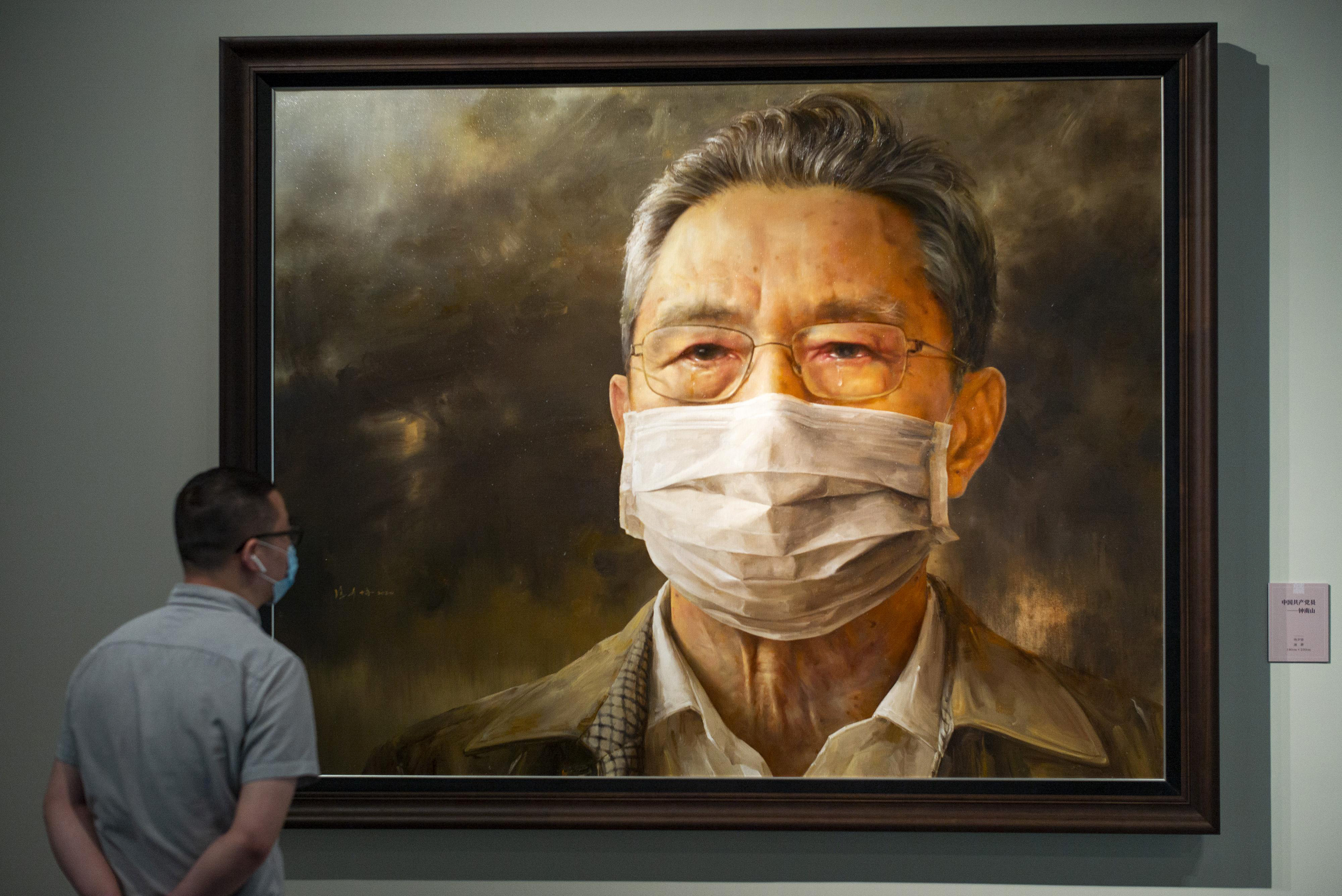 Beijing Art Exhibition Celebrates China S Covid 19 Response Cnn Style