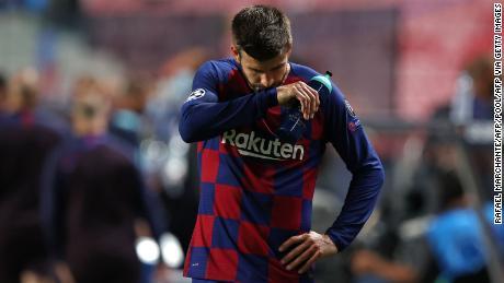 Pique réagit après sa défaite face au Bayern.