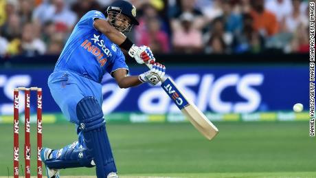 Raina bats during game one of the Twenty20 International match between Australia and India.