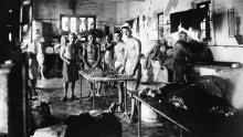 A picture of prisoners at the Stanley Internment on September 27, 1945.