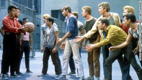 George Chakiris, Tony Mordente, Tucker Smith and Russ Tamblyn in a scene from the 1961 version of 'West Side Story.'