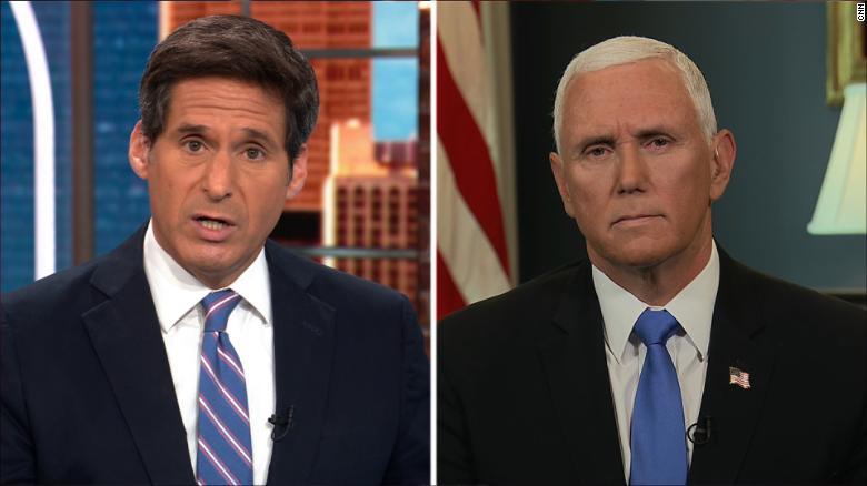 Pence denies hearing Trump embrace QAnon