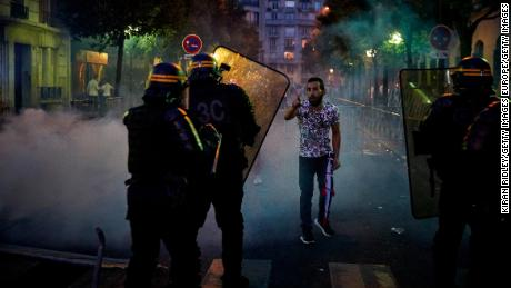 Riot police were called to the Parc des Princes stadium following PSG's defeat.