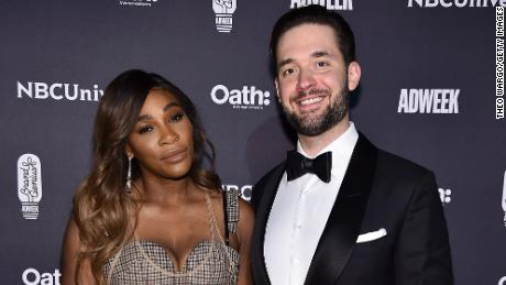 Serena Williams and Alexis Ohanian attend the 2018 Brand Genius Awards at Cipriani 25 Broadway on November 7, 2018 in New York City.