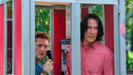 "(From left) Alex Winter and Keanu Reeves in ""Bill & Ted Face the Music."""