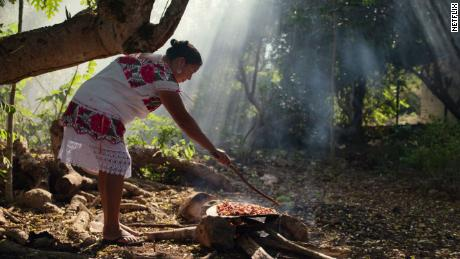"Rosalia Chay Chuc of Yaxunah, Mexico, and her traditional Mayan cooking appear on ""Chef's Table: BBQ."""