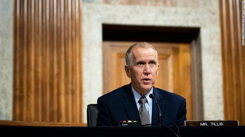 North Carolina Republican Sen. Thom Tillis announces he has prostate cancer but expects full recovery
