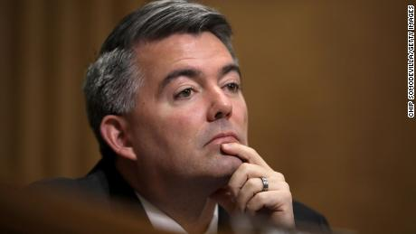 In this December 3, 2019, file photo, Sen. Cory Gardner attends a hearing in the Dirksen Senate Office Building on Capitol Hill.