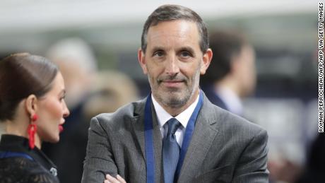 DaGrosa is seen ahead of the Bordeaux's Ligue 1 match against Paris Saint-Germain.