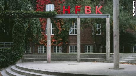 Exterior view of Hochschule für bildende Künste, University of Fine Arts in Hamburg, Germany