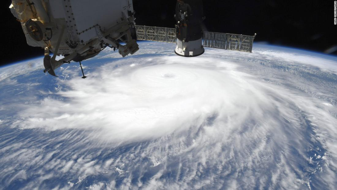 This photo of Hurricane Laura was taken from aboard the International Space Station on August 26.