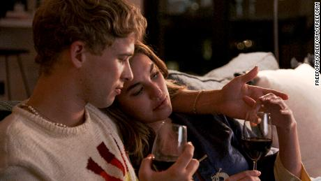 Tommy Dorfman and Rainey Qualley in 'Love in the Time of Corona'