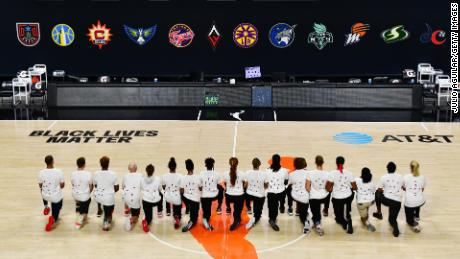 The T-shirt protest came after the WNBA announcement of the postponed games for the evening of August 26.