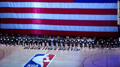 The NBA took a stand against police violence. But a second message quickly became clear