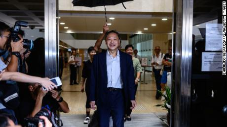 Law professor and activist Benny Tai seen in August 2019. Tai was controversially fired from Hong Kong University this year.