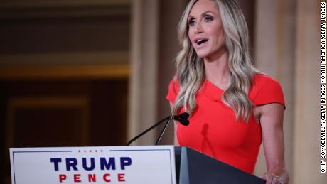 Lara Trump, daughter-in-law and campaign advisor for President Donald Trump, speaks to the Republican National Convention in August.
