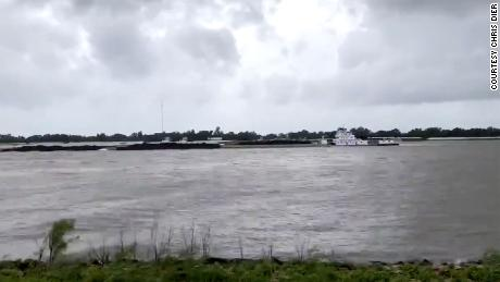Hurricane Laura was strong enough to reverse the flow of Mississippi River water