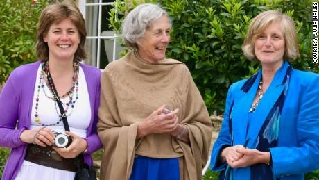Julia Hailes, left, with her 90-year-old mother Minker and sister Amanda.