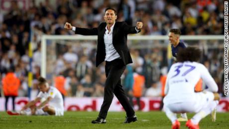 Frank Lampard, alors directeur du comté de Derby, a orchestré la victoire en séries éliminatoires 2019 qui a permis à Leeds de rester dans le championnat.