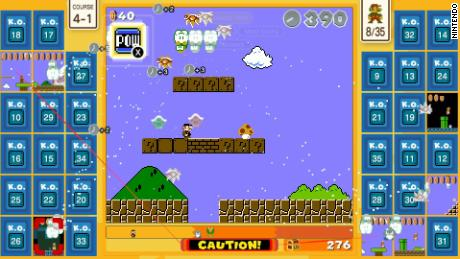 "A screengrab of ""Super Mario Bros. 35."""