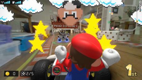 """What """"Mario Kart Live: Home Circuit"""" looks like."""
