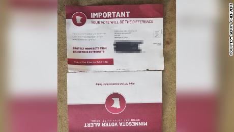 "The Minnesota mailer sent to voters in August includes what appears to be a legitimate application for an absentee ballot and politically charged messaging to ""protect Minnesota from dangerous extremists."""