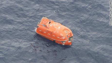 The Japan Coast Guard also located an empty life raft on Friday.