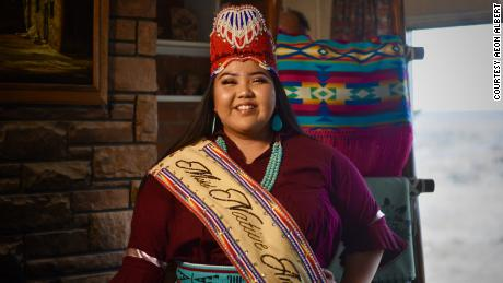 Miss Native American USA Lexie Michael James and her friends wanted to help families in the Hopi reservation with children by donating school supplies.