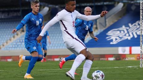 Greenwood made his first England appearance against Iceland.
