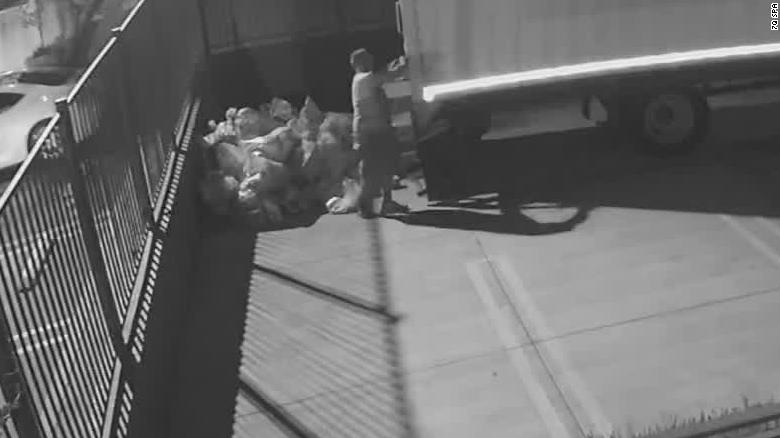 Video shows USPS mail being dumped in a California parking lot. A postal union says USPS employees weren't involved