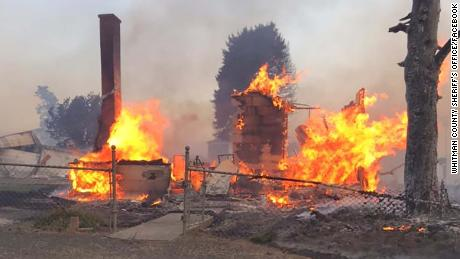 80% of the buildings in an eastern Washington town were destroyed during a Labor Day firestorm