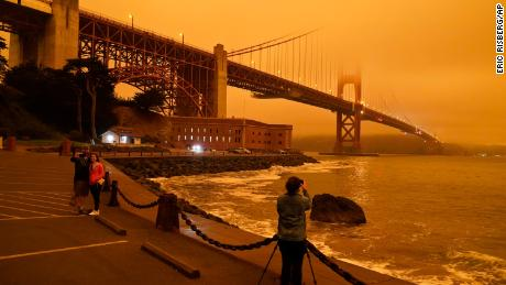 This is what the Bay Area's skies looked like today during the wildfires