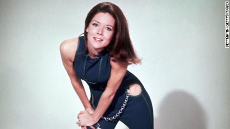 """Rigg in 1968 as Emma Peel in television spy series """"The Avengers."""""""