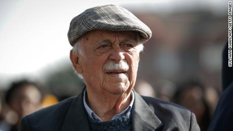Former Anti-Apartheid activist and South African president Nelson Mandela's lawyer and friend George Bizos.