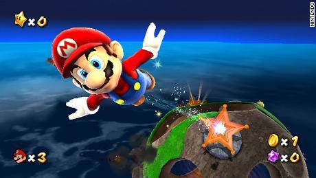 """Mario travels through space in """"Super Mario Galaxy."""""""
