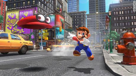 "In ""Super Mario Odyssey,"" Mario explores various worlds and can use his hat to transform into enemies."