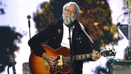 "Yusuf Islam (formerly Cat Stevens) performed onstage during the ""Music for the Marsden"" benefit concert at The O2 arena on March 3 in London."