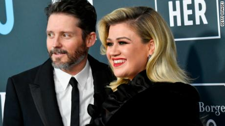 Brandon Blackstock (left) and Kelly Clarkson have parted ways.