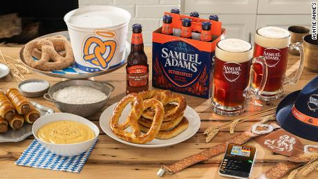 Auntie Anne's teamed up with Samuel Adams for a new Oktoberfest kit.